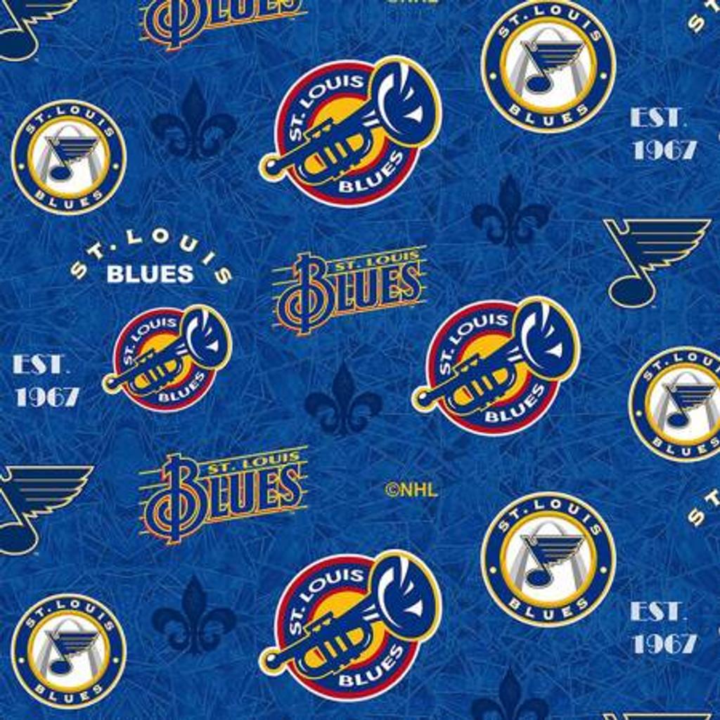 NHL-St. Louis Blues throwback logo - Sykel Enterprises - 1/2 yard
