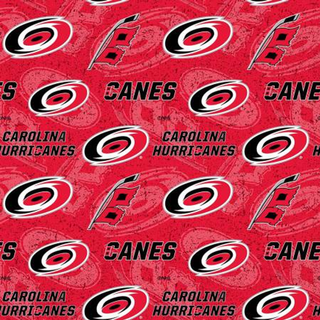 NHL-Carolina Hurricanes Tone on Tone Cotton - Sykel Enterprises - 1/2 yard