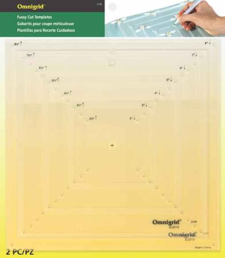 Omnigrid Fussy Cut Templates (OG2249