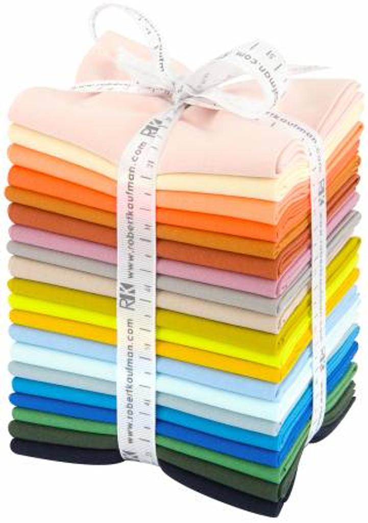 Fat Quarter Bundle - Carolyn Friedlander Curated Palette - Kona Solids - 20 Pieces - Robert Kaufman Cotton ( FQ-1474-20)