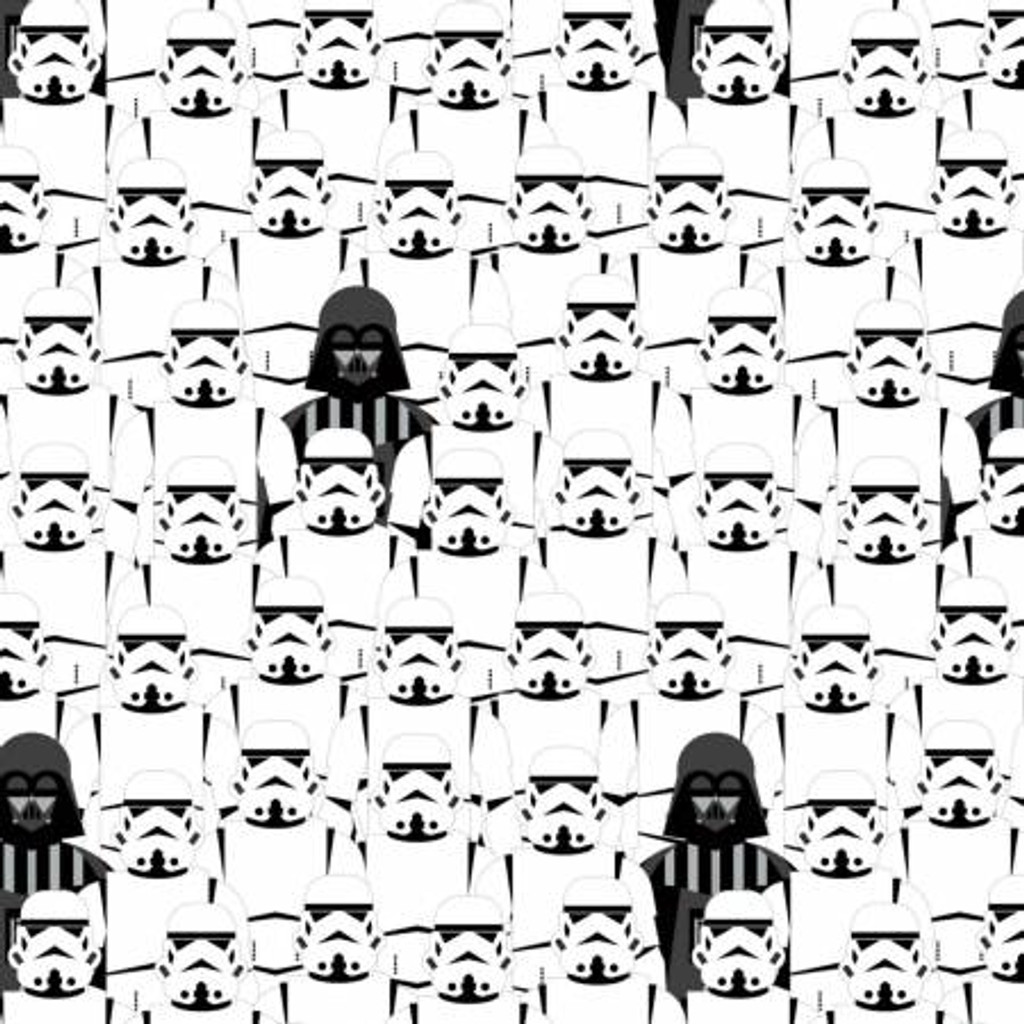 Black & White Storm Troopers Star Wars - Camelot Cotton - 1/2 yard (73011105-1)