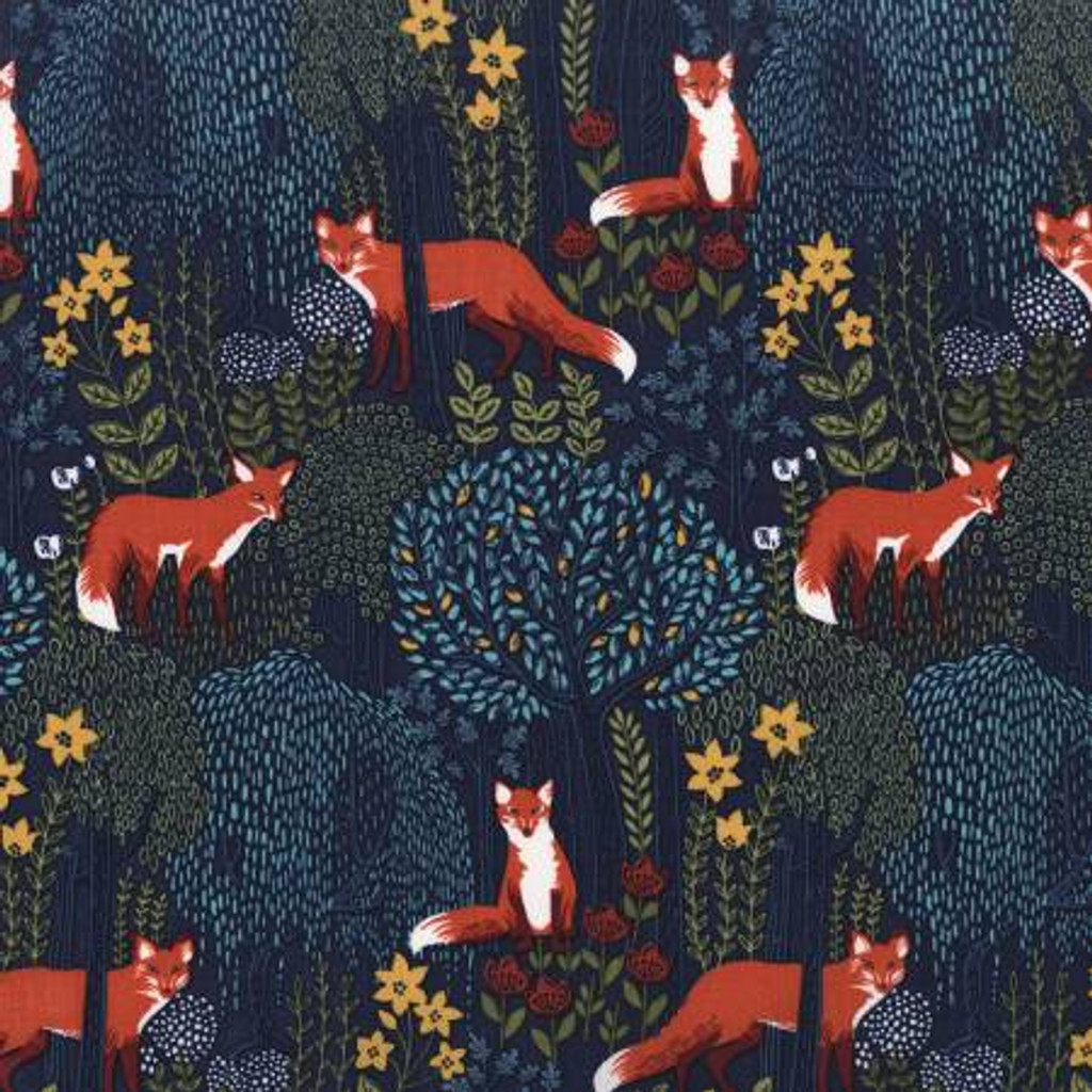 Nite into the Woods - Michael Miller Cotton - 1/2 yard (DC7727-NITE)