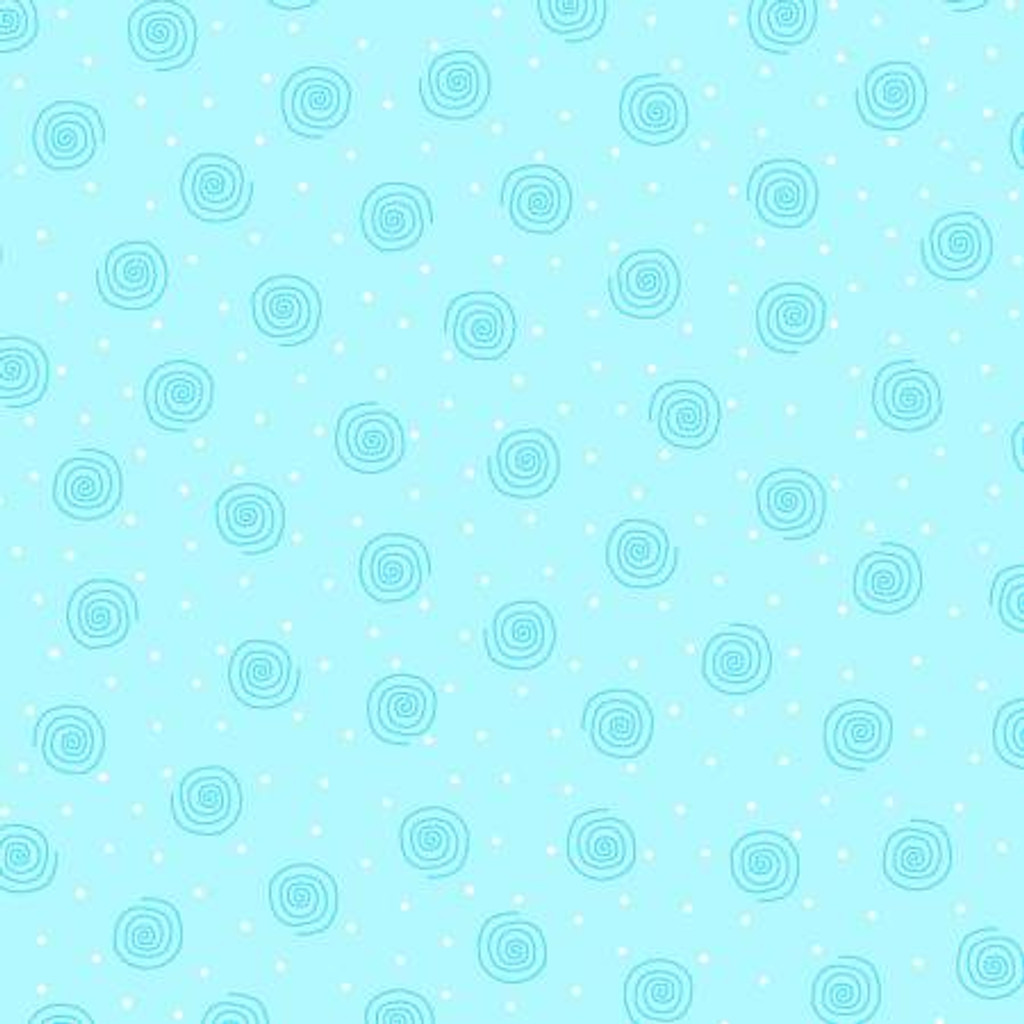 Blue Squiggles - AE Nathan Flannel - 1/2 yard (0019AE-11)