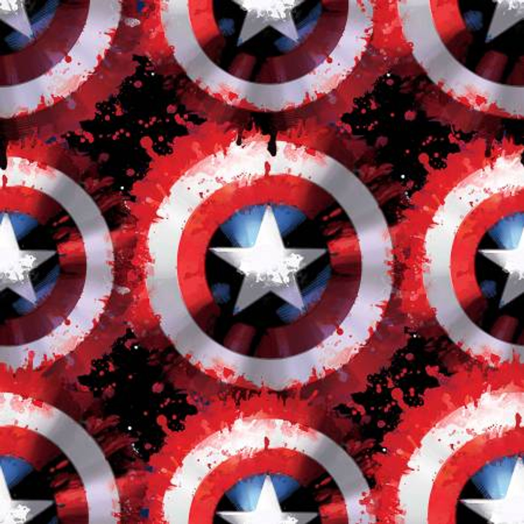 Marvel Captain America Shield - Springs Creative Fleece - 1/2 yard (71010A620710)