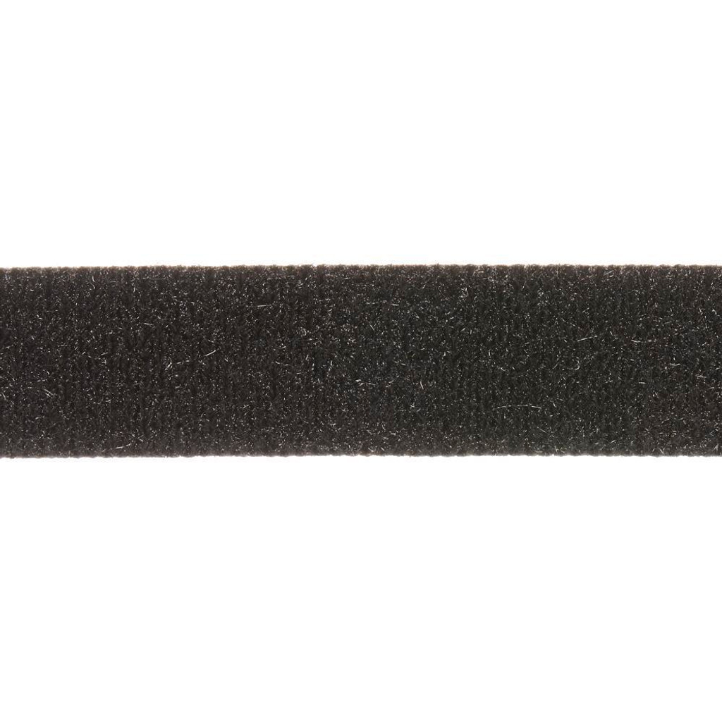 """Adhesive 1"""" Black Fastener Loop - 1/2 yard"""