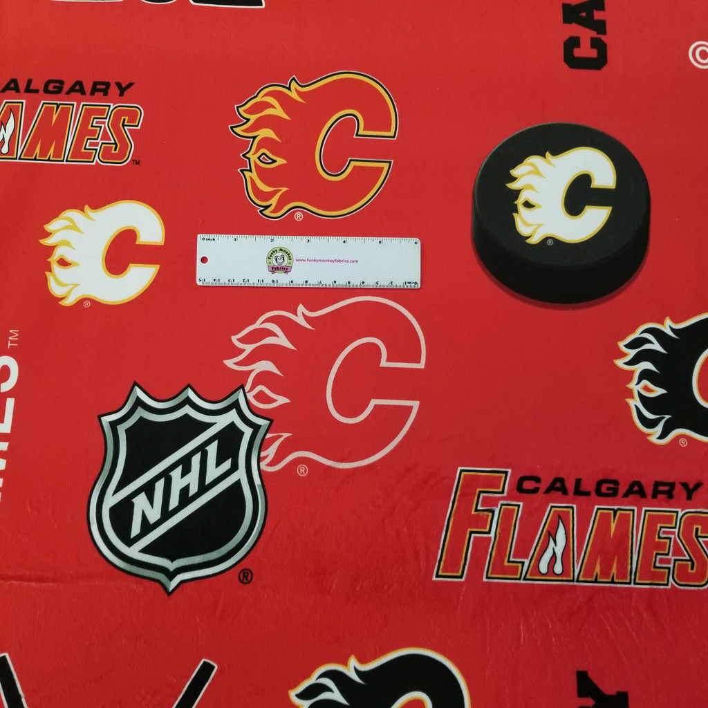 Minky Calgary Flames Licensed NHL - Sykel Minky