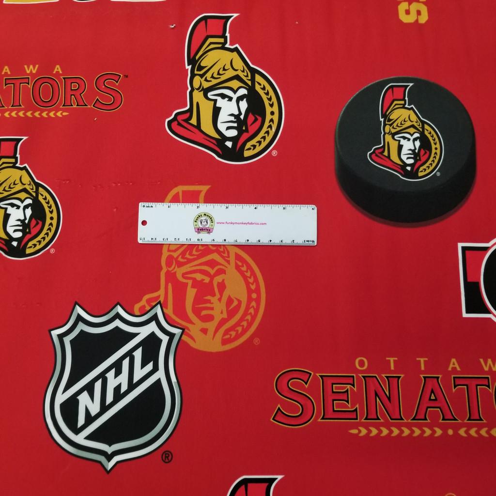 Minky Ottawa Senators Licensed NHL - Sykel Minky - 1/2 yard
