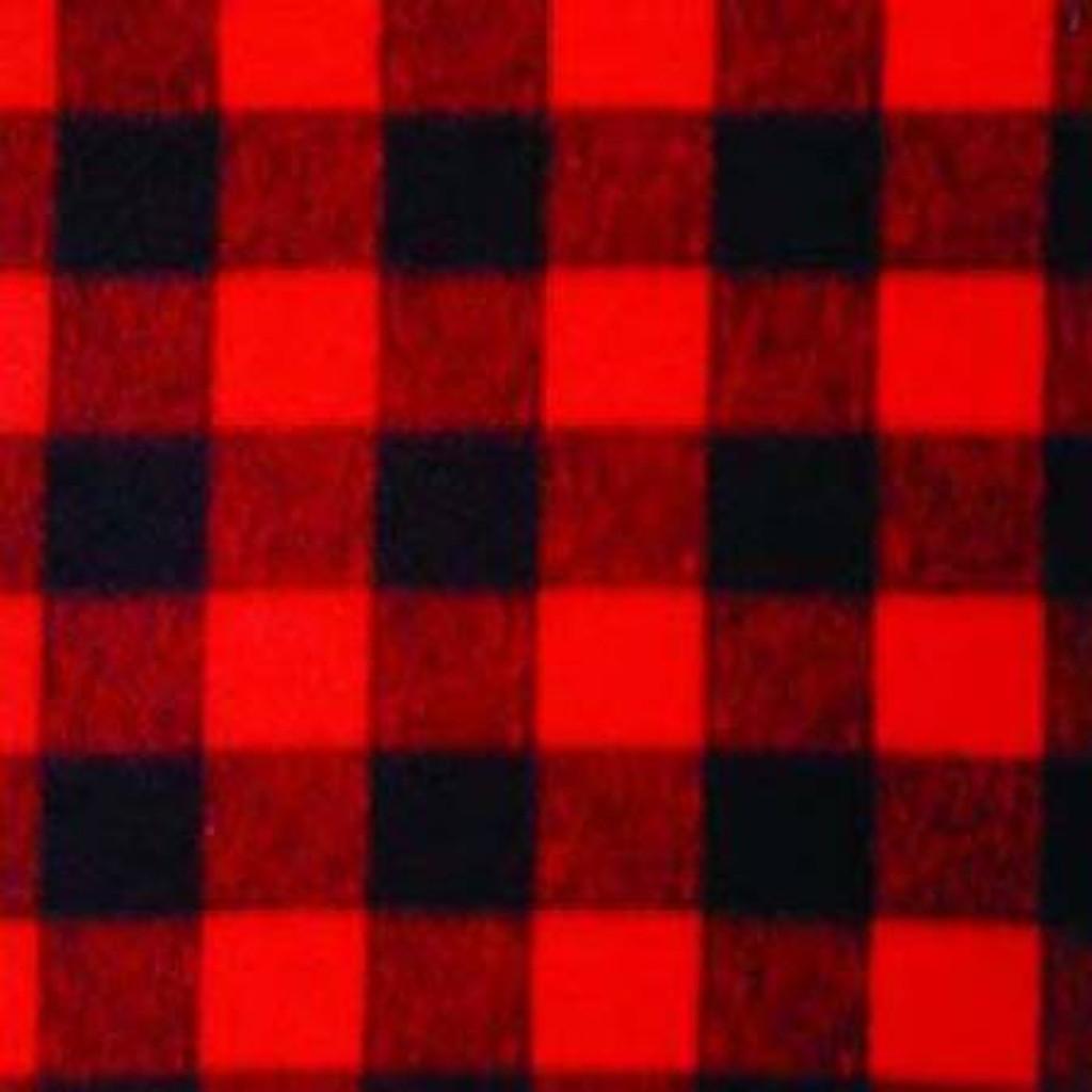 Red/Black Plaid - Windham Anti Pill Fleece - 1/2 yard (WFP17061-2)