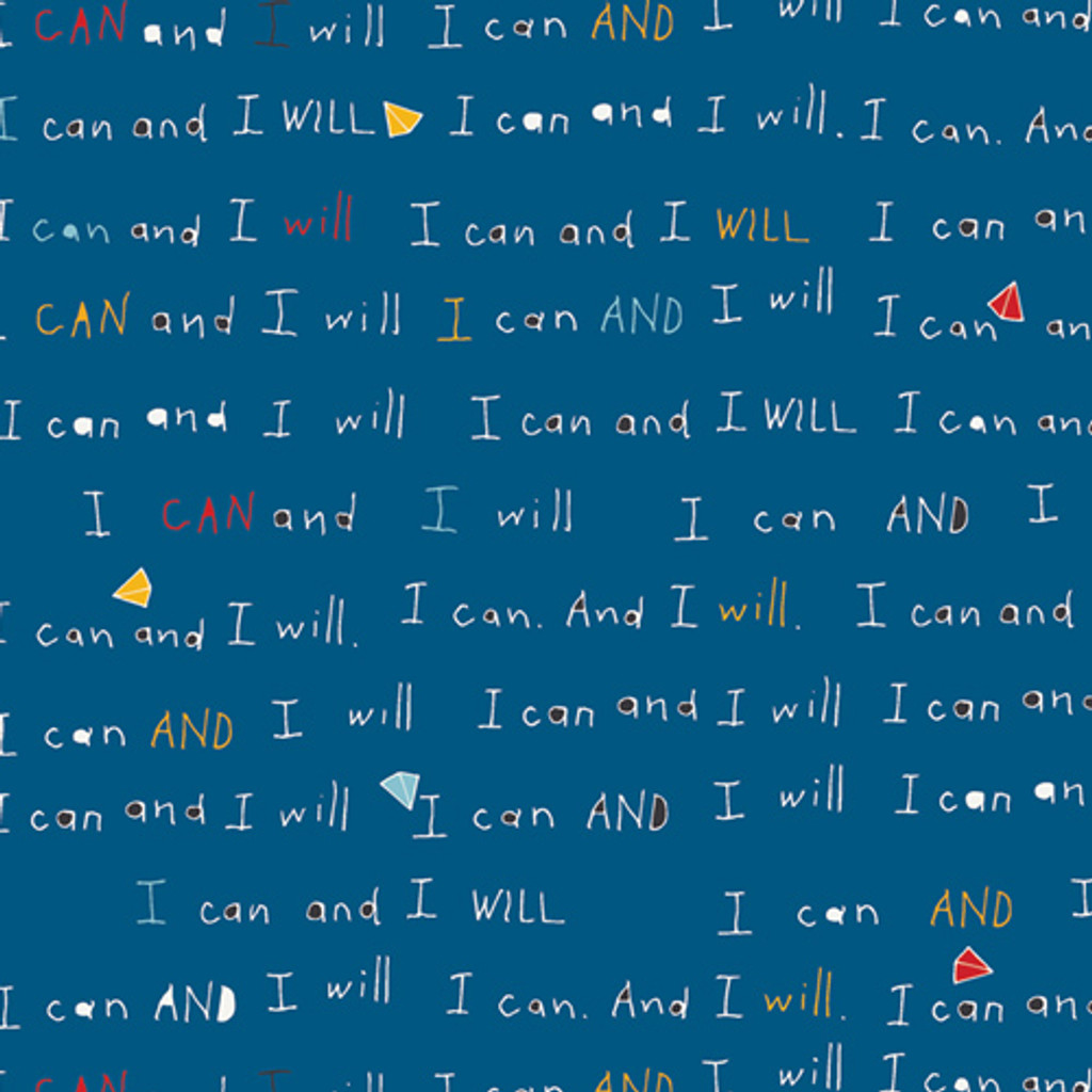 I Can and I Will - The Motto - Art Gallery Knit - 1/2 yard (K10057)