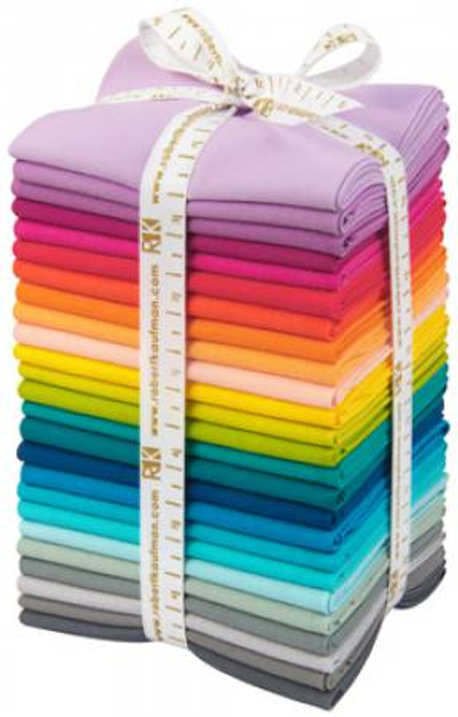Fat Quarter Bundle - Elizabet Hartman Curated Palette - Kona Cotton Solids - 25 Pieces