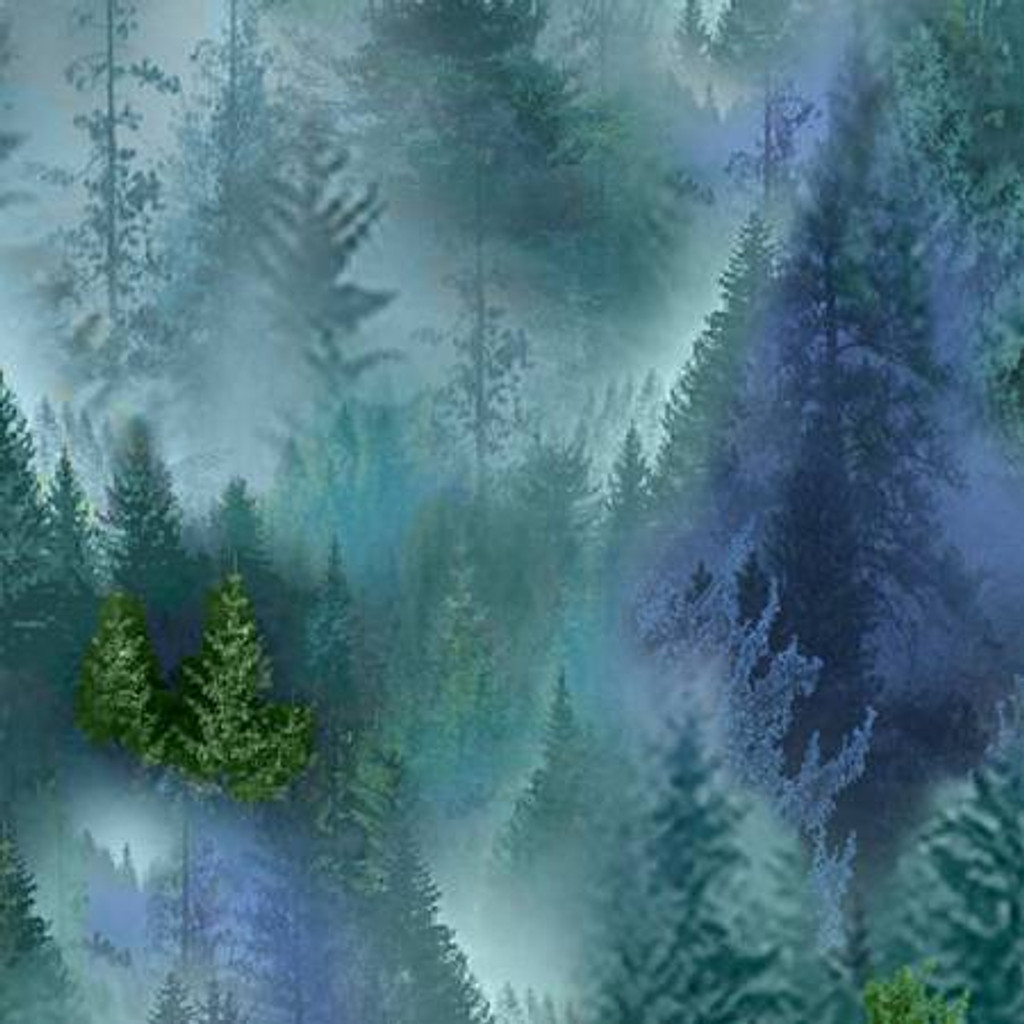 Multi Forest - Timeless Treasures Minky - 1/2 yard