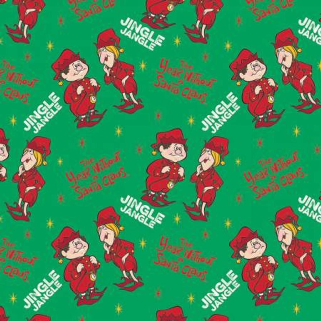 Green Jingle Jangle - Camelot Cotton - 1/2 yard ( 23120102-1)