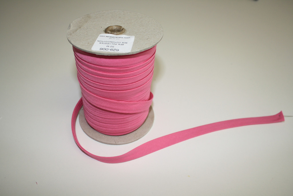 Hot Pink Double fold Bias Tape