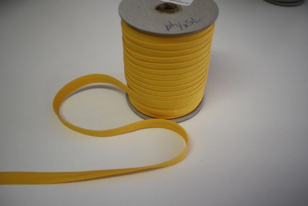 Bright Yellow Double fold Bias Tape