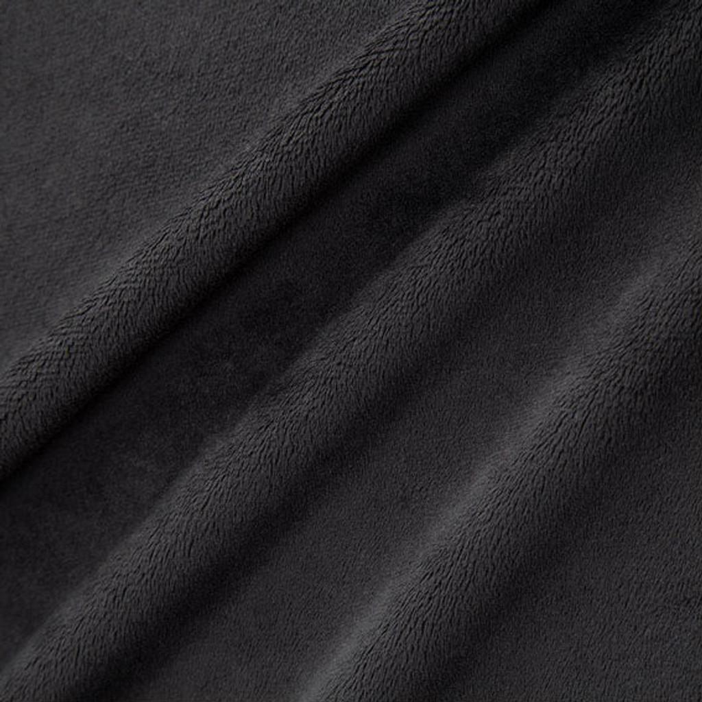Black Smooth - Shannon Fabrics Cuddle Minky - 1/2 yard