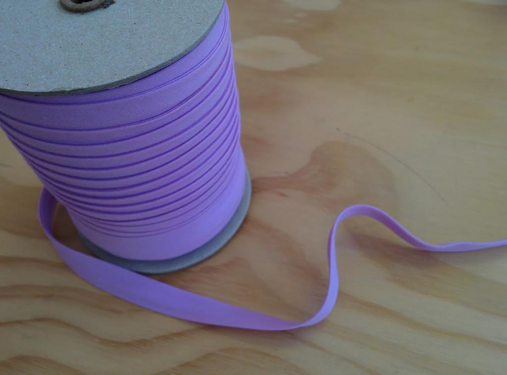 "Lilac Double fold Bias Tape 1/2"" - 1/2 yard"