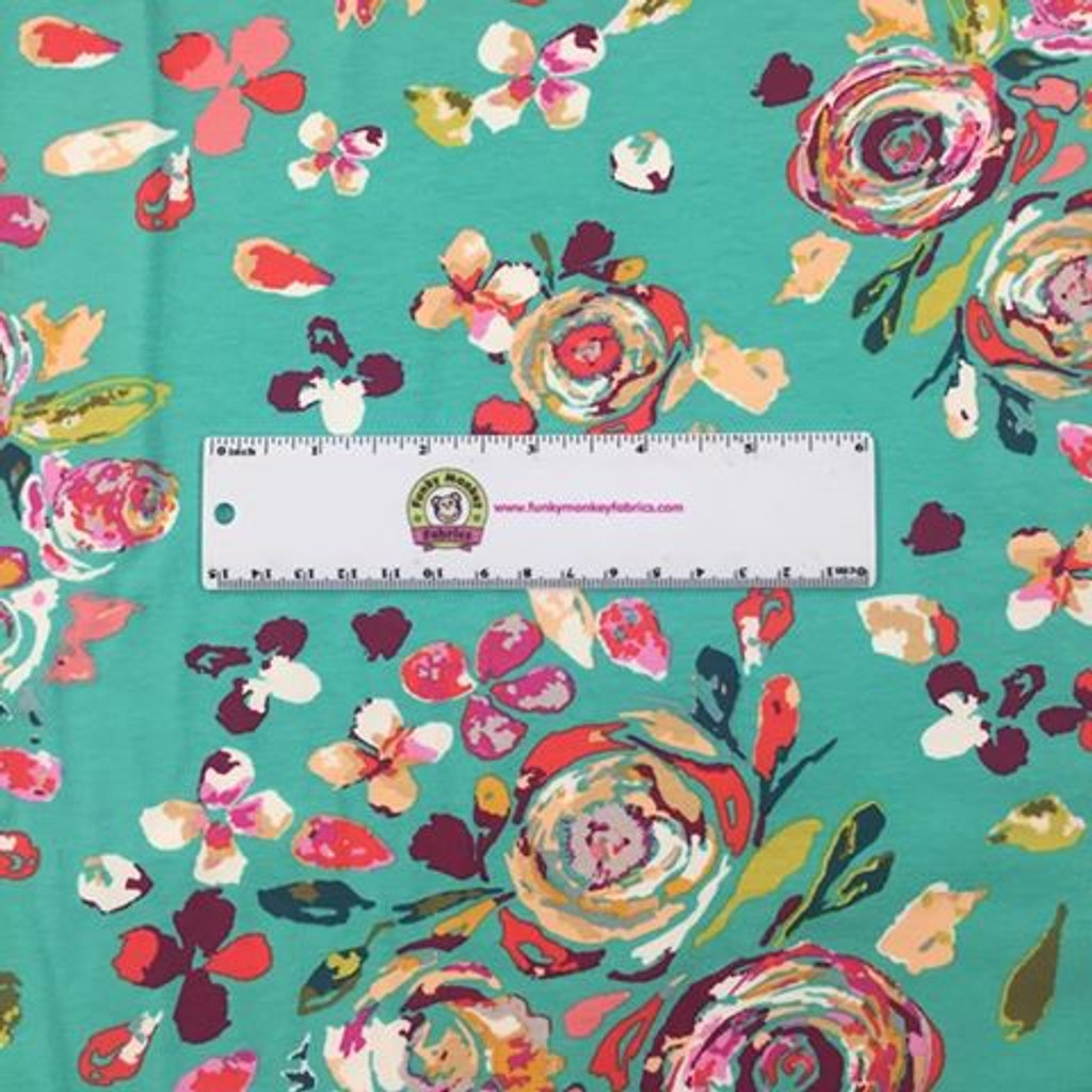 Swifting Flora Boho Green - Art Gallery Knit (KF-209)