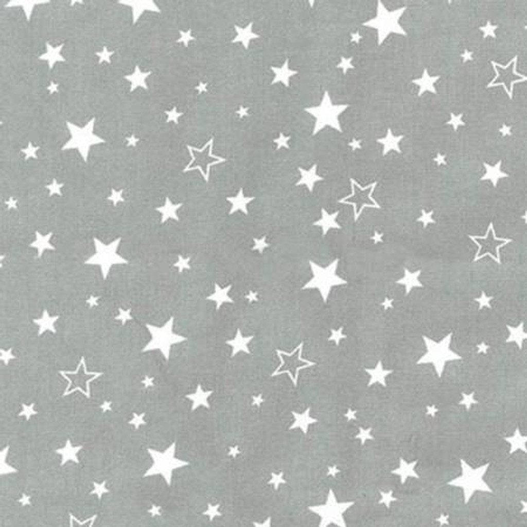 White Stars on Grey - Robert Kaufman Flannel (SRKF15593-12 grey)
