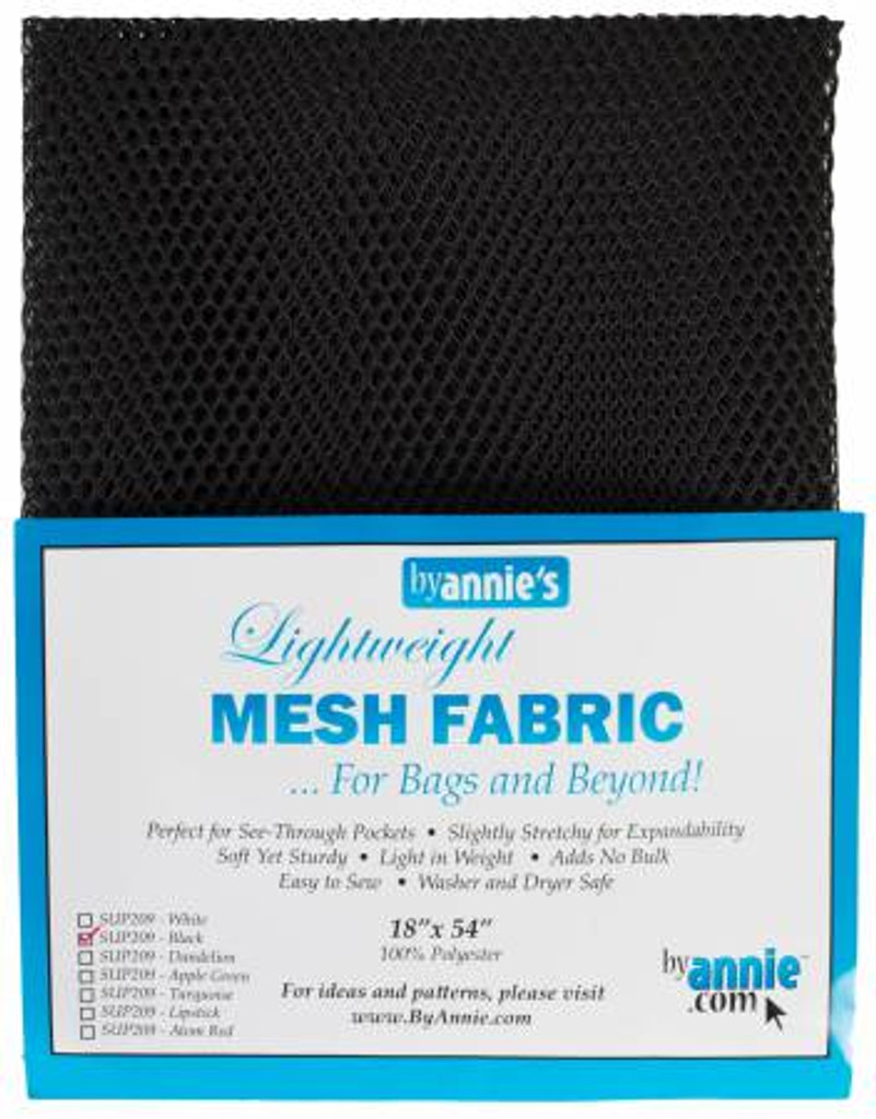 "Mesh Lite Weight Black - 18x54"" package"