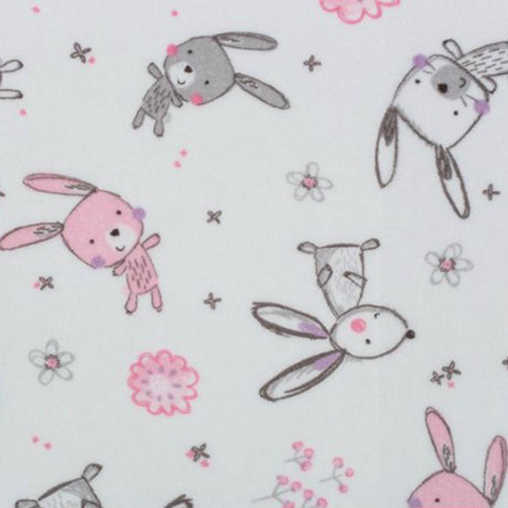 Bunny Hop Blush Minky - 1/2 yard