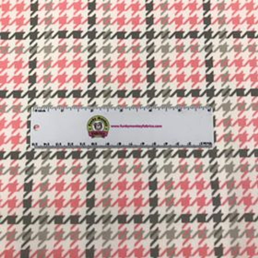 Bubblegum Houndstooth - Robert Kaufman Flannel (SRKF14733262)