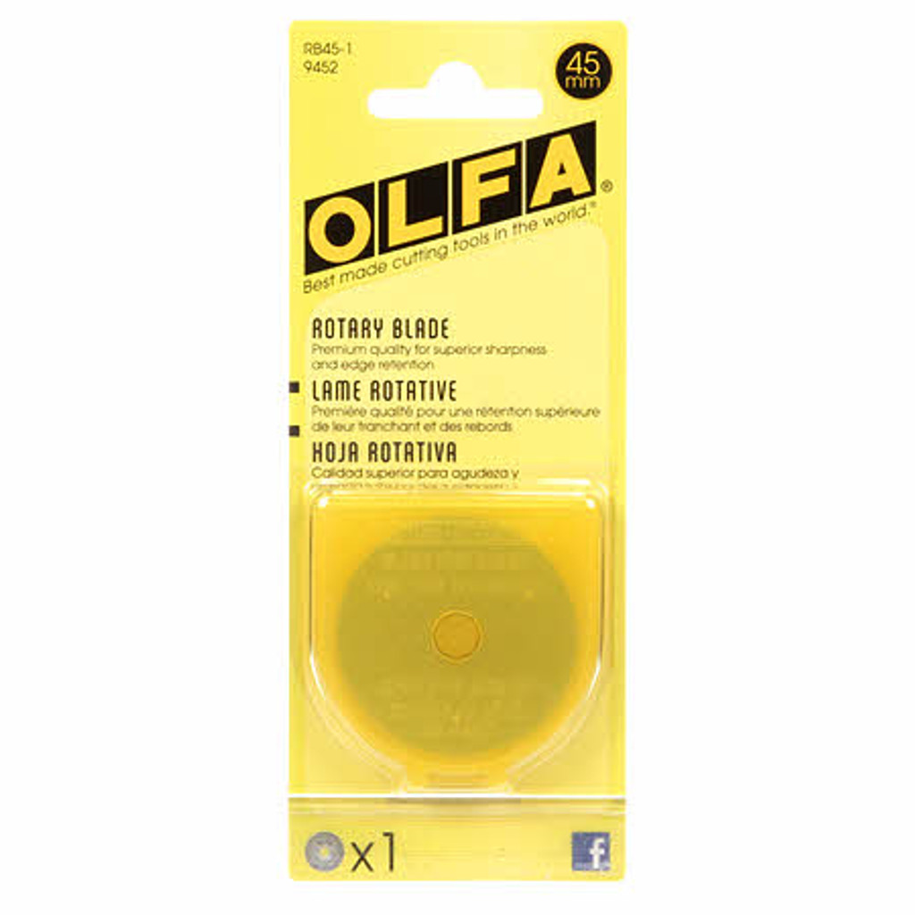 Olfa 45mm Rotary Cutter Replacement Blade 1 pack