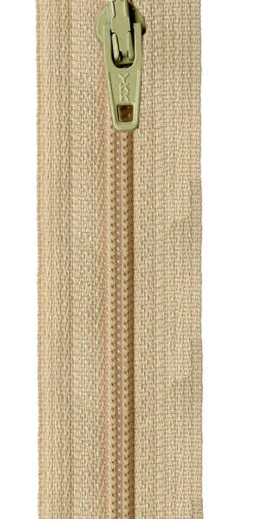 35.5cm/14in Zipper - Straw
