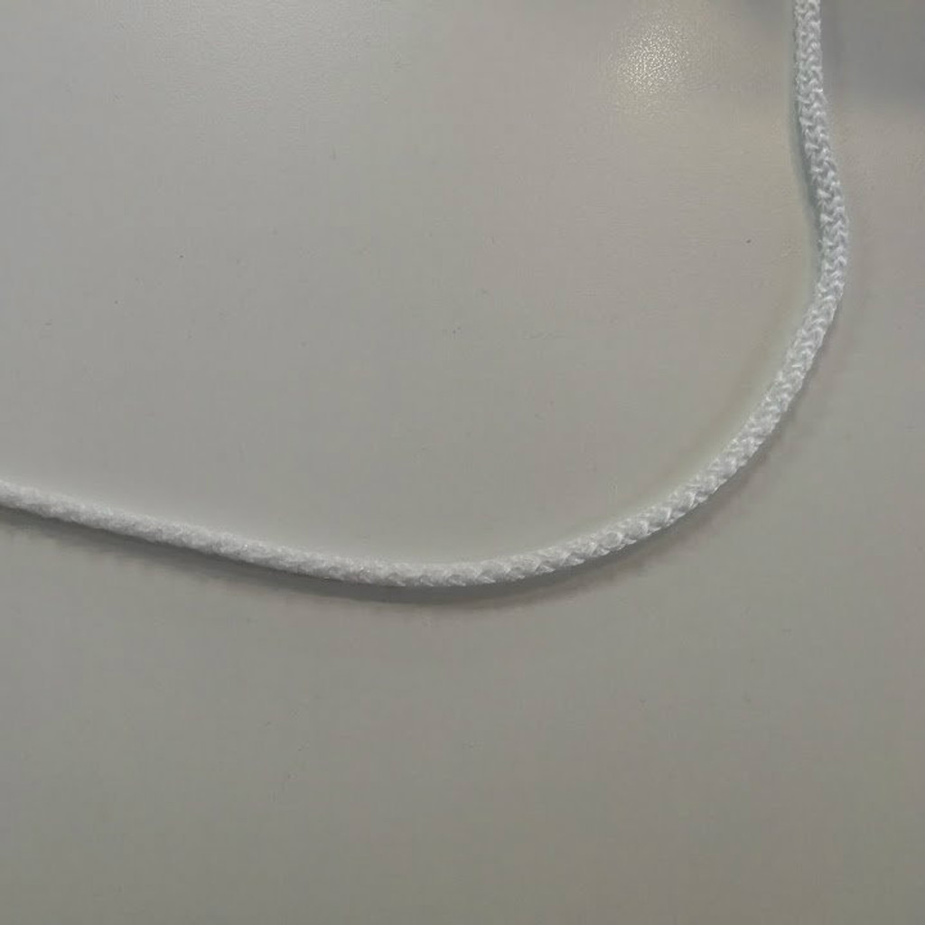 White Braided Polypro Cord