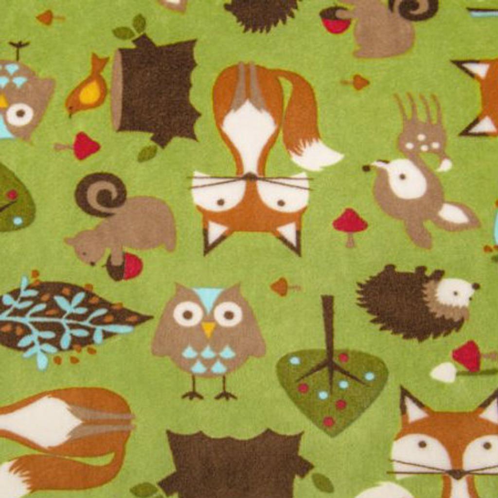 Kiwi Forest Tails Minky - 1/2 yard