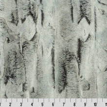 Sterling Fox Black/Silver Luxe - Shannon Fabrics Minky (lcsilvfoxsterlingblack)