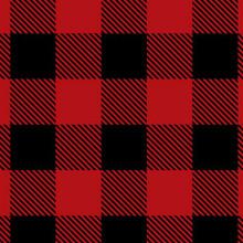 Scarlet/Black Buffalo Check - Shannon Fabrics Minky