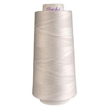 White Maxi-Lock Polyester Serger Thread 50wt - Large Cone