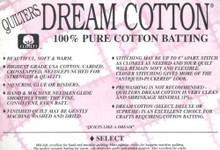 Quilter's Dream 100% Cotton Batting - 304.8cm/120in wide (selcot-121) (view)