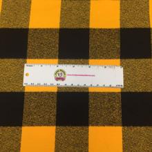 Mammoth Black/Mustard Plaid  - Robert Kaufman Flannel - 1/2 yard