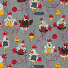 Knitting Chickens - Timeless Treasures Cotton (C5605)