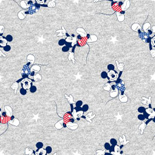 Disney Mickey Fun Toss on Grey - Springs Creative Knit - 1/2 yard (71100R320710)
