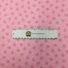 Pink Squiggles - AE Nathan Flannel - 1/2 yard