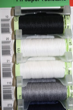 White #20 Polyester Top Stitching - 30m