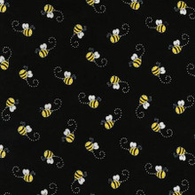Bees on Black - Timeless Treasures Cotton (C5496-BLACK)