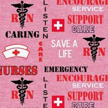 RN/Nurse Save a Life on Pink - Sykel Cotton (NURSE-1181)