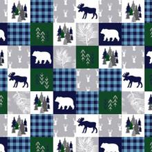 Navy Cabin Quilt - Shannon Fabrics Minky (CABINQUILTNAVY)