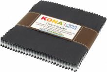 """5"""" Squares - Kona Stormy Skies - 42 Pieces - Robert Kaufman Cotton (CHS-724-42)"""