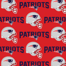 """NFL Red New England Patriots 60"""" Wide Cotton  (6467-D)"""