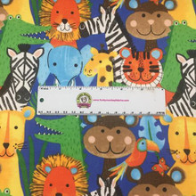 Blue Jungle Animals - AE Nathan Flannel (0907AE-77)