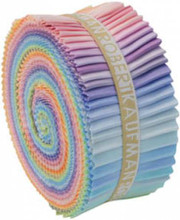 Jelly Roll - Pastel Palette Kona Solids - 40 pieces - Robert Kaufman Cotton (RU-230-41)