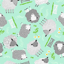 Mint Sheep - AE Nathan Flannel (13179AE-MINT)
