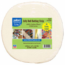 "Pellon Cotton With Scrim Jelly Roll Batting 2.5"" x 50 yds"