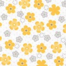 Yellow Flower - Robert Kaufman Flannel  (SRKF155925)
