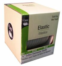 "Natural Cotton Swimwear Elastic 3/8"" - 1/2 yard (9438N)"
