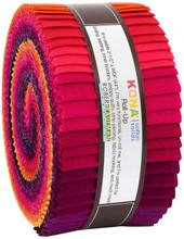 Jelly Roll 2-2-1/2in Strips Kona Cotton Birds of Paradise Palette, 40pcs/bundle- Robert Kaufman Cotton